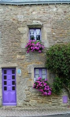 St Gildas du Rhuis, Brittany, France FW Balconies, Hill Interiors, Brittany France, French Countryside, Normandy, Architecture, Garden Windows, Closed Doors, Tore