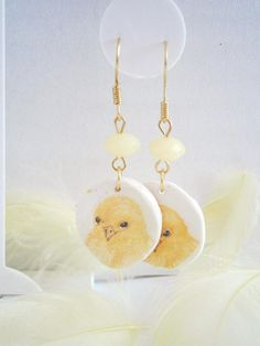 Easter Chick Earrings  Polymer Clay Earrings  Fimo Jewelry