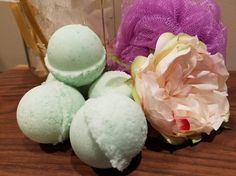 Lush style bath bombs. Check out this item in my Etsy shop https://www.etsy.com/listing/502069708/3-pack-bath-bombs-small-gift-mothers