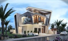 Home luxury exterior 21 Ideas for 2019 Modern Exterior House Designs, Modern House Facades, Modern Villa Design, Dream House Exterior, Modern House Plans, Exterior Design, Bungalow House Design, House Front Design, House Architecture Styles