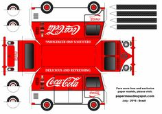 This is the Volkswagen Kombi Type II Coca-Cola , an easy-to-build paper model in only one sheet of paper. Esta é a Volkswagen Kom.