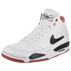 Nike Nike Men's Air Flight Classic Basketball Shoe   Bluefly.Com (330 BRL) ❤ liked on Polyvore featuring men's fashion, men's shoes, men's athletic shoes, shoes, white, nike mens shoes, nike mens athletic shoes, mens white shoes, mens white leather shoes and mens basketball shoes