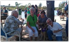 Coco doing her Therapy Dog thing at the Lauderdale Small Boat Club located in Fort Lauderdale, Florida.