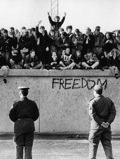 The Berlin Wall falls, 1989