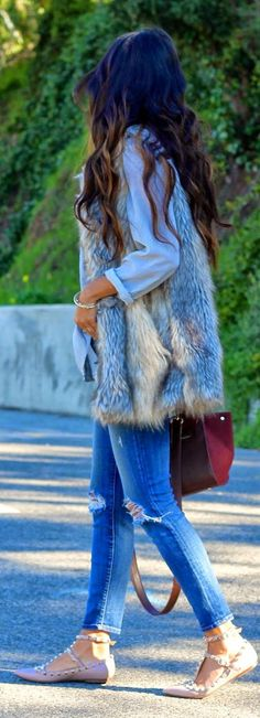 Grey Faux Fur Vest                                                                                                                                                                                 More