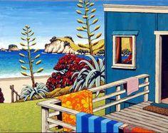 Nz Art, Art For Art Sake, New Zealand Art, Kiwiana, Art Courses, Surf Art, Typography Art, Beach Art, Landscape Art