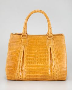 Crocodile Top-Handle Tote by Nancy Gonzalez at Bergdorf Goodman.
