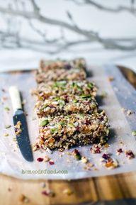 Quinoa, fruit + nut bars