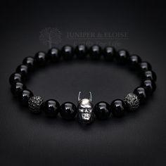 Mens Bracelet, Batman bracelet, Christmas Gift, Dark Knight Bracelet, Superhero, Batman Vs Superman, Batman Jewelry, Batman Bead Bracelet by JuniperandEloise on Etsy