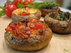 Several ideas for stuffed mushrooms