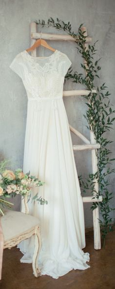 Boho wedding dress 'TEONA' / Bohemian Wedding Dress #weddingdress