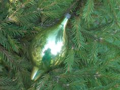 Icicle gold glass vintage christmas holiday ornament tree Mercury glass Soviet vintage gold bauble tree handblown glass Christmas decoration by SomeVintage4you on Etsy