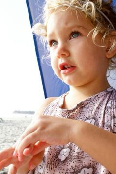 Layla at the beach.