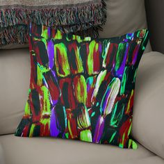Discover «Black and Blue Sugarcane», Numbered Edition Throw Pillow by Alicia Jones - From $27 - @anoellejay @Curioos