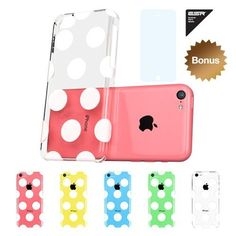 ESR the Beat Series Hard Clear Back Cover Snap on Case for iPhone 5C (Polka Dots):Amazon:Cell Phones & Accessories
