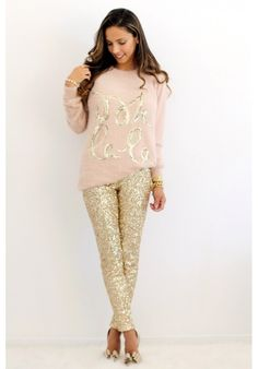 """Grab these perfect holiday leggings only at E's Closet.   Get 5% off with discount code """"Russell"""" @ checkout"""