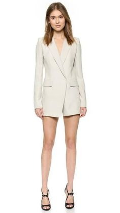 A sexy outfit for summer date night? We love this tuxedo-jacket romper.