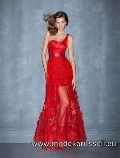 Rotes One Shoulder Abendkleid Online