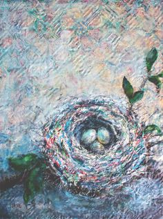 40 x 30, part of my nest series.  Please visit my website to see more or signup for my newsletter at www.lorrakurtz.com My Nest, India Ink, Wax, Paintings, Fine Art, Contemporary, Website, Paint, Painting Art