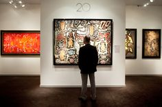 The stand of Applicat-Prazan at TEFAF 2013. One of the earliest works from the Hourloupe period, Site Urbain, by Jean Dubuffet (1901-1985) created in 1962 can be found on the stand of Applicat-Prazan.
