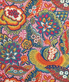 Patricia Linen Union in Spice from the Nesfield Collection by Liberty Art Fabrics – Interiors floral pattern Pattern Texture, Surface Pattern, Pattern Art, Pattern Design, Batik Pattern, Paisley Pattern, Paisley Print, Motifs Textiles, Textile Patterns