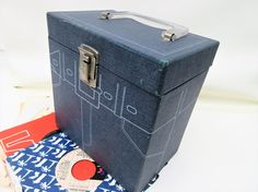 Vintage 45 Record Case | Vinyl Record Storage | Record Box for 45s by WhimzyThyme on Etsy