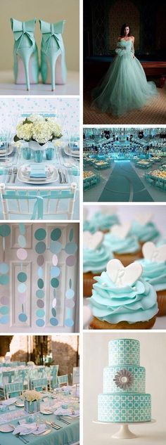 Seriously thinking of changing my wedding colors from black and red to Tiffany blue but not sure on the second color Tiffany Blue Weddings, Tiffany Wedding, Mint Gold Weddings, Tiffany Blue Nails, Tiffany White, Green Weddings, Romantic Weddings, Perfect Wedding, Our Wedding