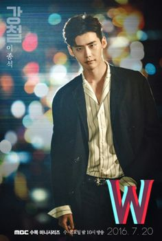 """W"" (korean drama) Lee Jong-suk- male lead W Korean Drama, Korean Drama Movies, Jong Hyuk, Lee Jong, Asian Actors, Korean Actors, W Kdrama, Kang Chul, Lee Jung Suk"