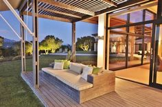 In an exceptional country setting, with a backdrop of the majestic Outeniqua Mountains and a panoramic vista of lakes and Indian Ocean. This immaculate, contemporary home with quality fixtures and fittings throughout, offers a spacious airy ambience with double volume 'Big Sky' magnificence. All this encompassed in a manicured garden with 13m salt, heated, rimflow pool. This is surely the epitome of luxury country estate living.