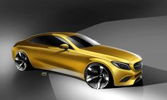 C-class Coupe official sketch by Slavche Tanevski