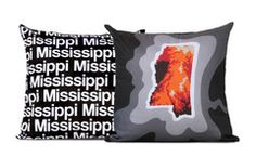Mississippi Map Pillow, Charcoal (double sided) $20 from www.cartoloji.com