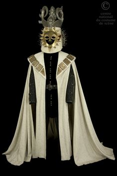 Abd'elkader Farrah, costume for Buckingham, silver lurex cape, silk velvet doublet, from Shakespeare's 'Richard III', Terry Hands, 1972