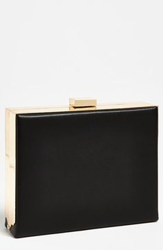 $38, Black Clutch: Box Clutch Black by Natasha Couture. Sold by Nordstrom. Click for more info: http://lookastic.com/women/shop_items/44142/redirect