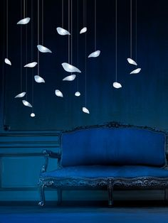 SmoonBirdie by BEAU&BIEN. Designed by Sylvie Maréchal & Lode Soetewey. SmoonBirdie is a ceiling lamp in molten glass for inside only. Made piece by piece by a master glazier, each bird is unique. Eco-designed LED ceiling lamp, entirely made in France. SmoonBirdie Light with its simple and pure aesthetics brings a touch of poetry and nature in any interior decoration. To be hung alone or in a flock of birds.