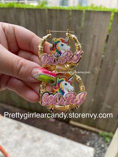 1.8 in size Girls Accessories, Custom Jewelry, Bamboo, Earrings, Handmade, Outfits, Ear Rings, Stud Earrings, Hand Made