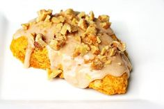 One of my favorite scone recipes~ pumpkin spice! (Tip: use a food processor to quickly grate frozen butter) ** so good!
