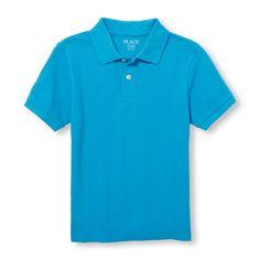Boys Short Sleeve Solid Pique Polo