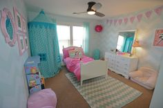Land of Nod Canopy | Dueling rooms {girl's bedroom} | Suburban Bitches