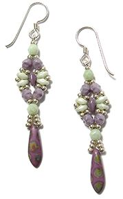 Dragonfly Earrings - free from Deb Roberti  ~ Seed Bead Tutorials