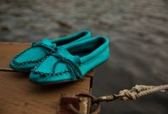 Colourful deerskin moccs with a crepe sole! Bright is better! Deerskin, Daily Fashion, Moccasins, Boat Shoes, Footwear, Canada, Colours, Bright
