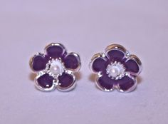 Purple Flower Fashion Earrings