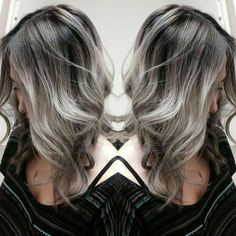 If my grey hair ACTUALLY looked like this, I would grow it out in a heartbeat.