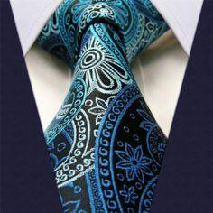 Black & Blue Floral Necktie
