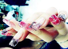 exotic nails | Exotic Colorful Nail Art - Nail Polish - 80s:
