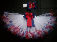 4th of July tutu set Little Sparkler custom made by CatyRoseBows, $30.00