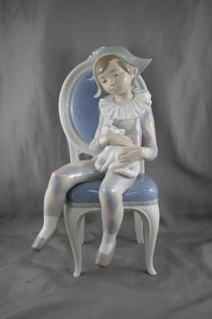 Lladro Porcelain Figure of Boy with Cat, : Lot 232