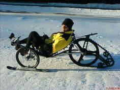 Trike modified for snow...