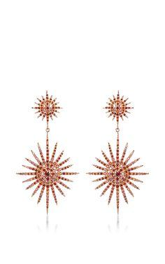 Double Starburst Brown Diamond Earrings by Bochic for Preorder on Moda Operandi