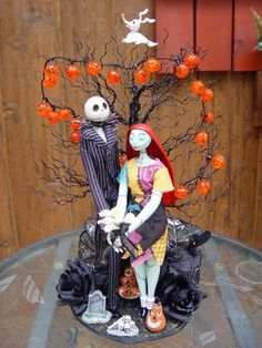 Unique Halloween Wedding Cake Toppers | ... : Nightmare Before Christmas, JACK & SALLY Wedding Cake Toppers