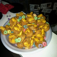 Theme: BUGS! - for snack you can make these flies! Just use vanilla wafers with peanut butter in the middle. For the wings use goldfish and for the eyes use fruit loops or cheerios:)